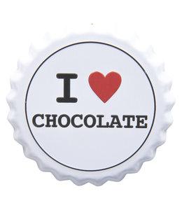 "Deko-Schild ""I LOVE CHOCOLATE"" Vintage"