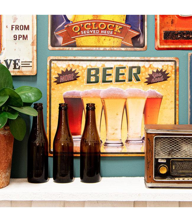 """Deko-Schild """"Beer"""" Vintage"""