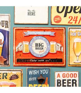 """Barschild """"BIG BEER Party"""" Vintage"""