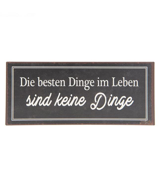 """Deko-Schild """"Die besten Dinge im Leben..."""" Vintage"""