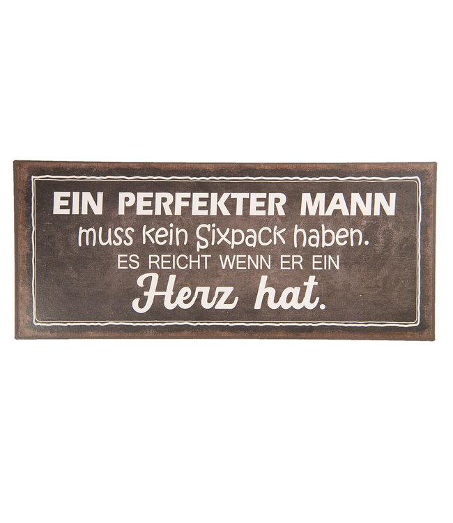 """Deko-Schild """"EIN PERFEKTER MANN"""" Vintage"""