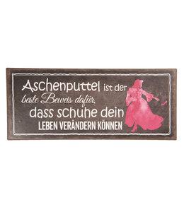 """Deko-Schild """"Aschenputtel"""" Vintage"""