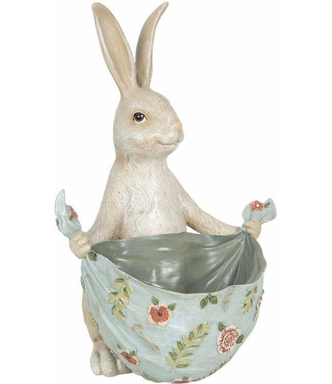 Deko-Kaninchen mit Schüssel, Vintage
