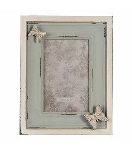 Bilderrahmen mit Schmetterlingen, Vintage (Foto 10x15)
