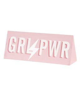 """Deko-Schild """"Girl Power GRL PWR, Selfie Queen"""" Altrosa, Vintage"""