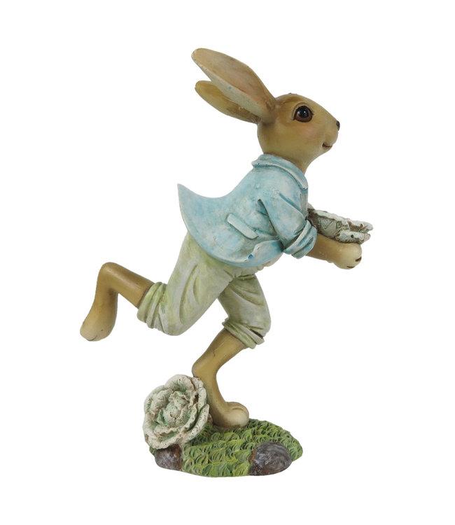 Deko-Kaninchen mit Blume, Vintage