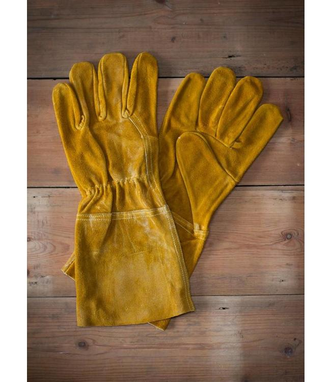 Arbeitshandschuhe Leder, gelb