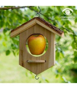 Apfel-Futterstation für Wildvögel