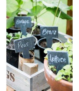 Pflanzetiketten inkl. Kreide zum Beschriften