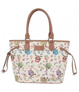 """Handtaschen Vintage Handtasche """"Eulen"""""""