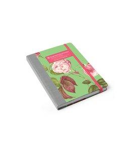 """Notizbücher Vintage Notizbuch """"Rosa Chinensis"""" China-Rose"""