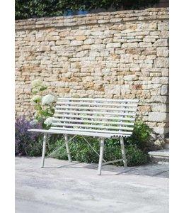 Englische Gartenbank aus Metall, grau