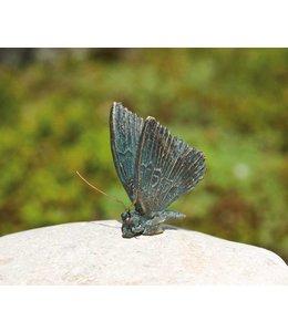 Gartendeko Vintage Schmetterling Bronze