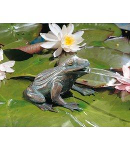 Gartenfiguren Frosch Bronze