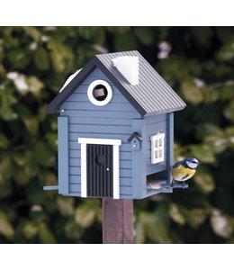 """Wildlife Garden Vogelfutterhaus & Nistkasten """"Landhaus"""" blau"""