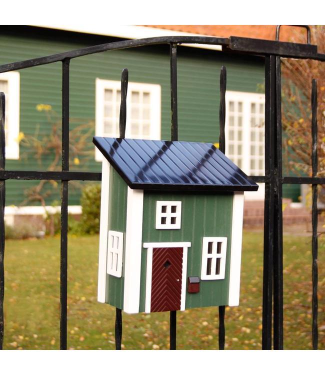 Holz-Briefkasten grün - Landhausstil
