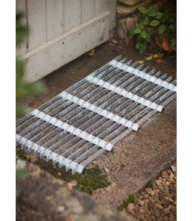 Fußabstreifer aus verzinktem Metall