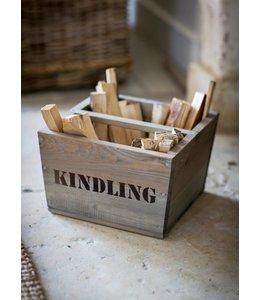 """Holzbox """"Kindling"""" Fichtenholz, Vintage"""
