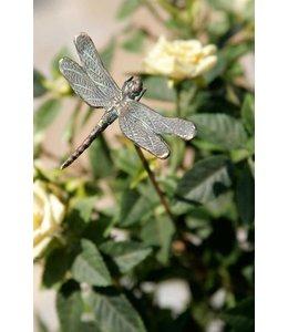 Libelle auf Bronzestab