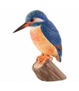 Wildlife Garden Eisvogel handgeschnitzt