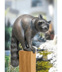 "Gartenfigur ""Waschbär""Bronze, Vintage Patina"