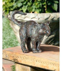 Gartendeko Vintage Junge Katze Bronze