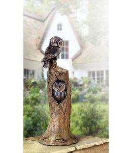 Gartendeko Vintage Eulenbaum Bronze