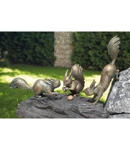 Gartendeko Vintage Eichhörnchen Bronze 3er-Set