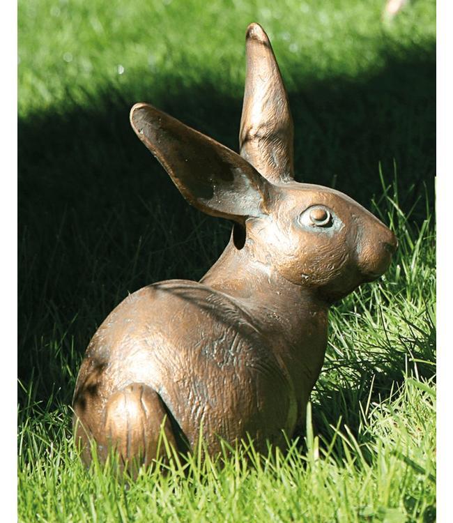 Gartendeko Vintage Hase Bronze
