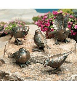 Spatzen 5er-Set Bronze