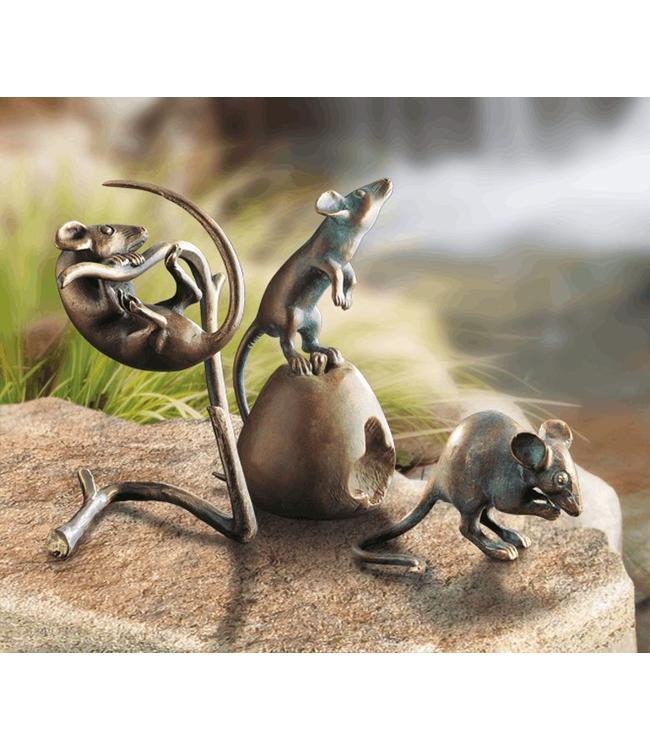 Mäuse 3er-Set Bronze