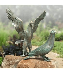 Strassacker Tauben Pärchen Bronze