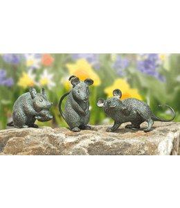 Strassacker Mäuse 3er-Set Bronze