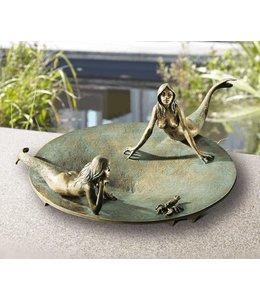 Vogeltränken Vintage Vogeltränke mit Nixen Bronze