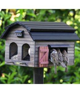 Futterscheune für Vögel, braun