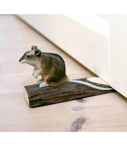 Wildlife Garden Türstopper Maus, handgeschnitzt