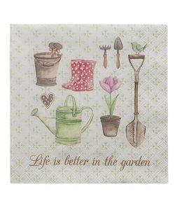 """Clayre & Eef Papierservietten """"Life is better in the garden"""""""