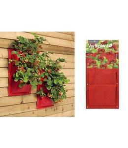 Burgon & Ball Pflanztaschen für die Wand - 2er-Set, Erdbeere