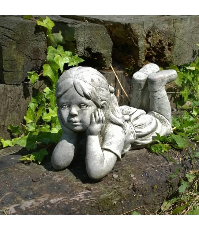 Steinfigur Träumendes Mädchen Julia