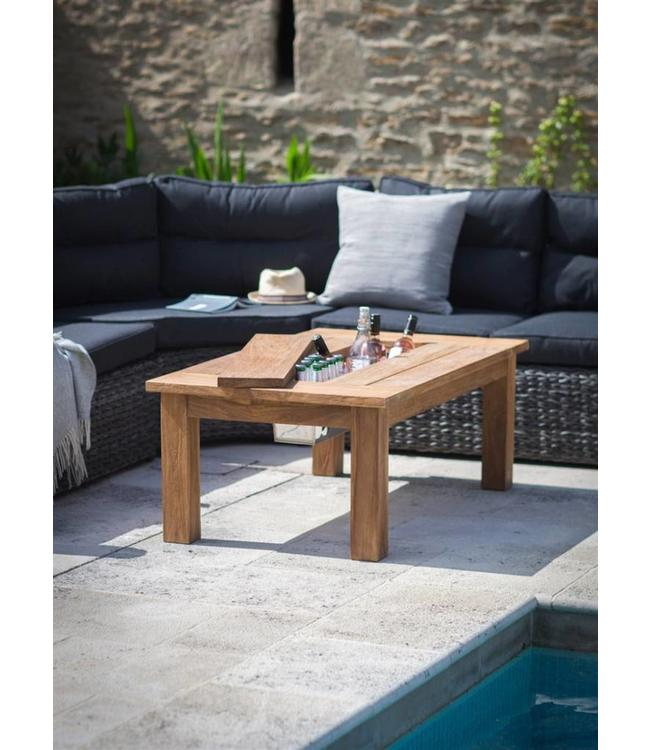Gartentisch Teakholz mit Eisfach, 120x70, Ausstellungsstück