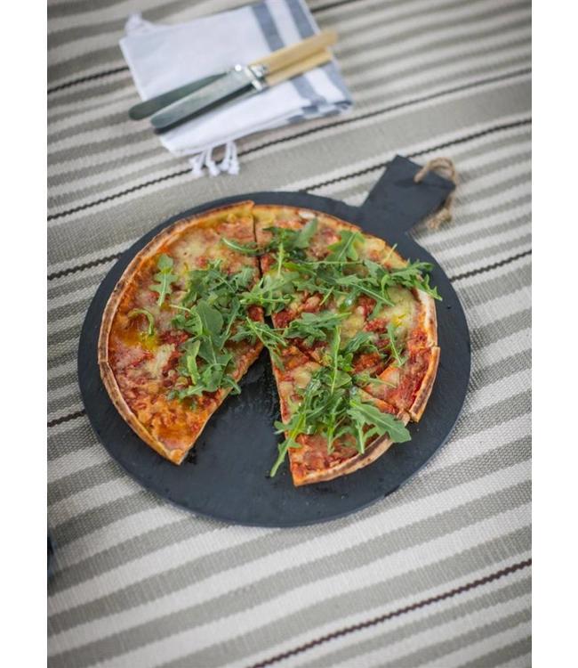Pizza Servierplatte Naturschiefer