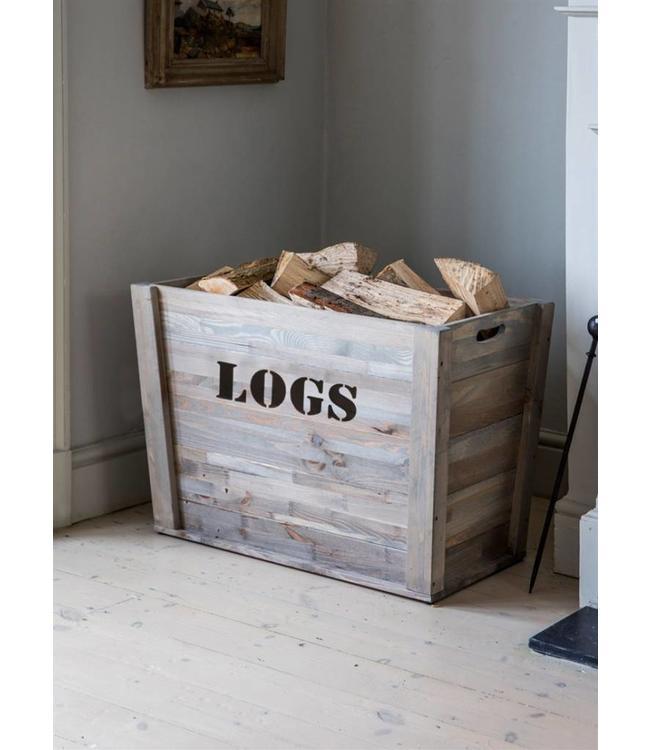 """Rustikale Feuerholz-Box Landhaus """"Logs"""""""