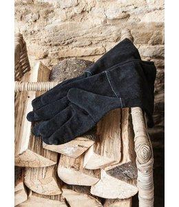 Arbeitshandschuhe Leder, schwarz