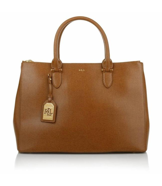 Ralph Lauren Ralph Lauren Double Zipper Satchel Lauren Tan