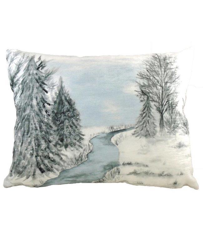Kissen Winterlandschaft 40x30