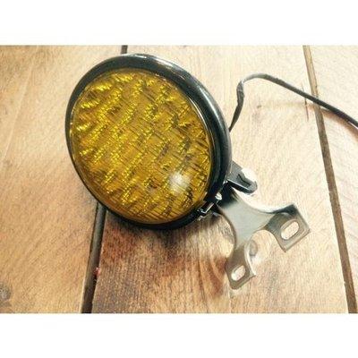 Oldskool koplamp black yellow