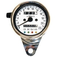 Mini-Speedo 60 mm with LED Control White Face
