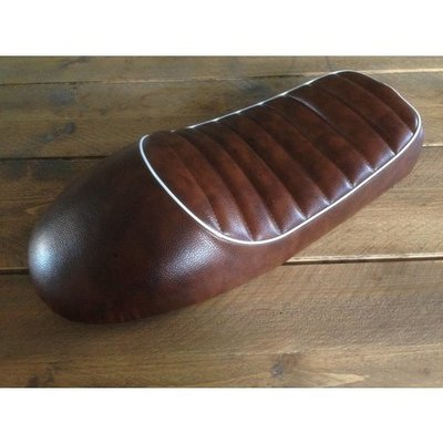 Tuck N' Roll Cafe Racer Seat Brown & White 88