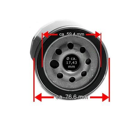Oliefilter voor 99er Evo Softail® en Twin Cam 88® zwart