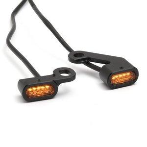 Mini-LED-knipperlichten voor stuurschakelaar zwart
